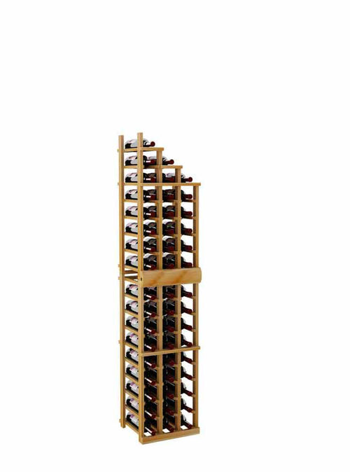 Vintner Series Waterfall Wine Rack - 2 Falling Right - 4' Bottom Stack - Donachelli's Cellars