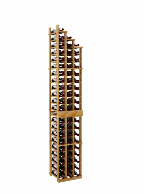 Vintner Series Waterfall Wine Rack - 3 Falling Right - 3' Bottom Stack - Donachelli's Cellars
