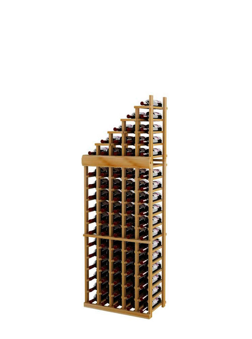 Vintner Series Waterfall Wine Rack - 1 Falling Left - 4' Bottom Stack - Donachelli's Cellars