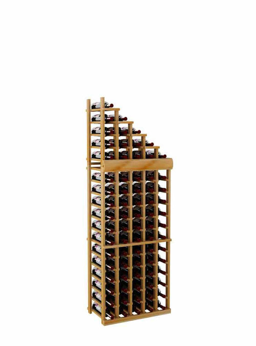 Vintner Series Waterfall Wine Rack - 1 Falling Right - 4' Bottom Stack - Donachelli's Cellars