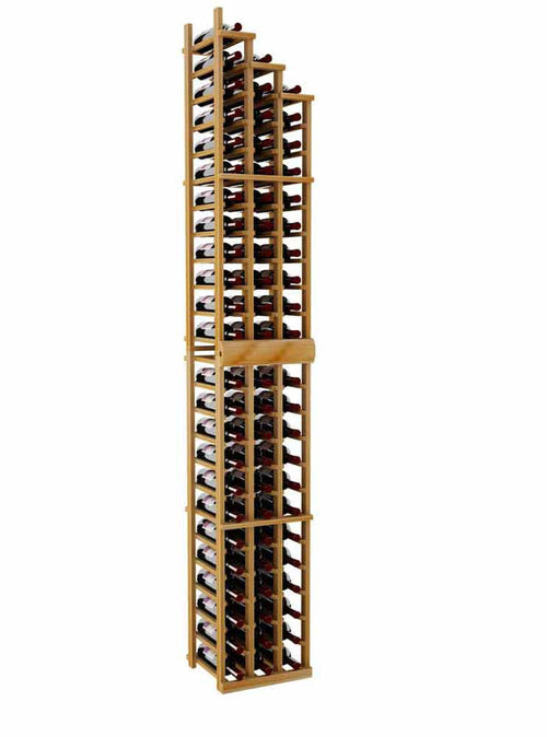 Vintner Series Waterfall Wine Rack - 3 Falling Right - 4' Bottom Stack - Donachelli's Cellars