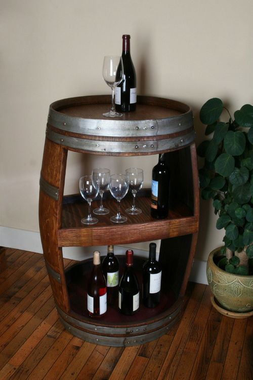 Full Double Sided Barrel Cabinet
