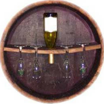 "6"" Hanging Wine and Glass Rack"