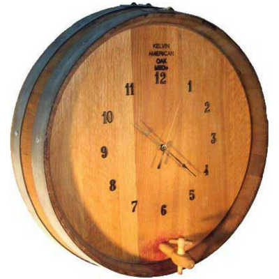 1/4 Barrel Head Clock with Spigot