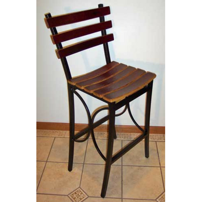 "24"" Wine Barrel Bar Stool"