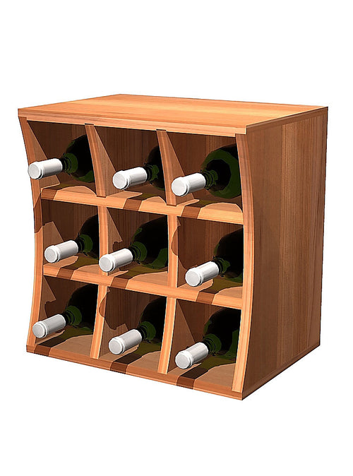 Concave Curvy Wine Cube Wine Holder - Donachelli's Cellars