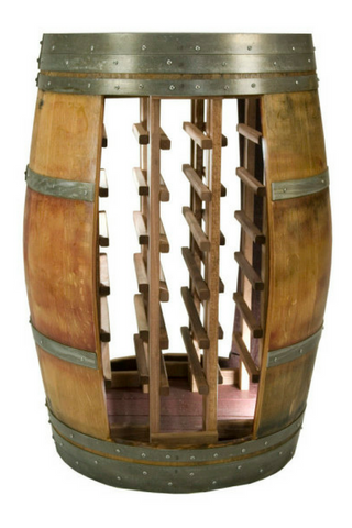 Full Barrel Cabinet with Light