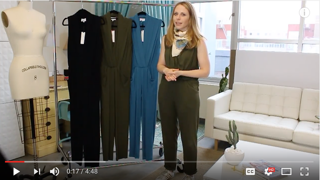 Sarah Liller San Francisco easy jersey jumpsuit video