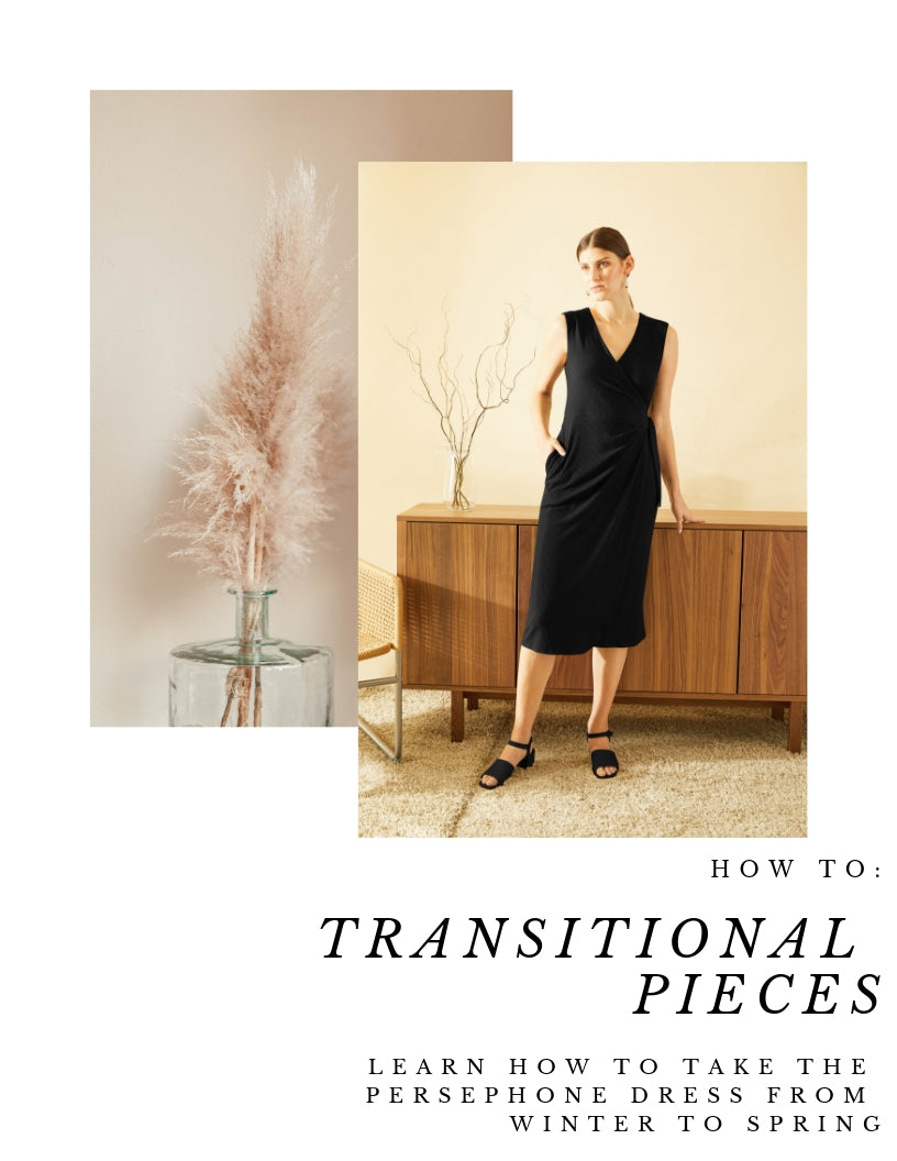 How To: Transitional Pieces With The Persephone Wrap Dress