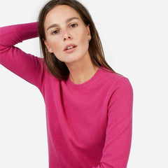 everlane Berry cashmere sweater