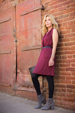 Faux wrap dress wine Auburn, Ca