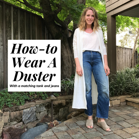 how to wear a duster