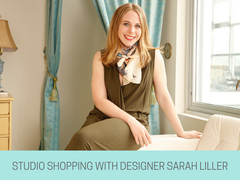 Studio shopping with designer sarah liller