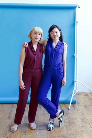 drifter organics michaela and dawn in jumpsuits