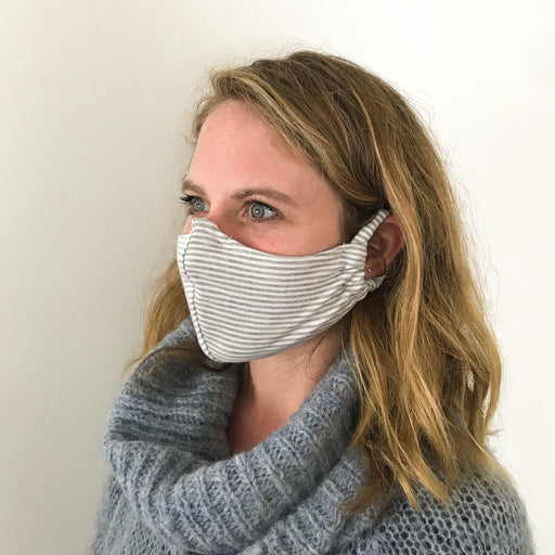 Organic Cotton/Bamboo Striped Face Masks