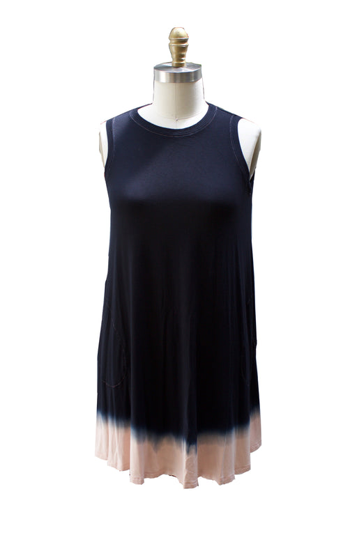 Dip Dye Capsule - Sleeveless A-Line Dress with Pockets - SALE