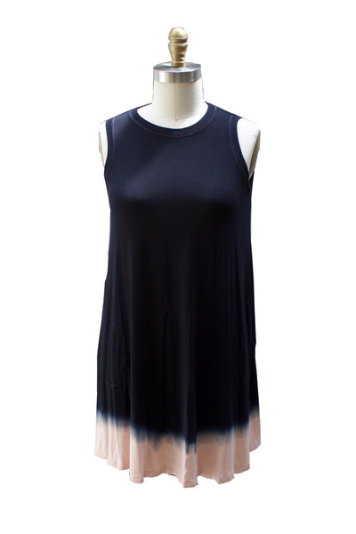 Dip Dye Capsule - Sleeveless A-Line Dress with Pockets