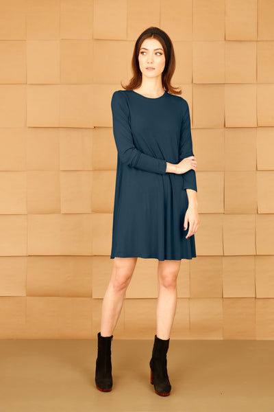 A-Line Dress with Sleeves and Pockets