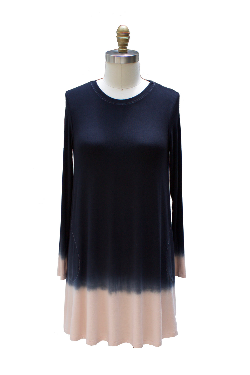 Dip Dye Capsule - A-Line Dress with Sleeves and Pockets