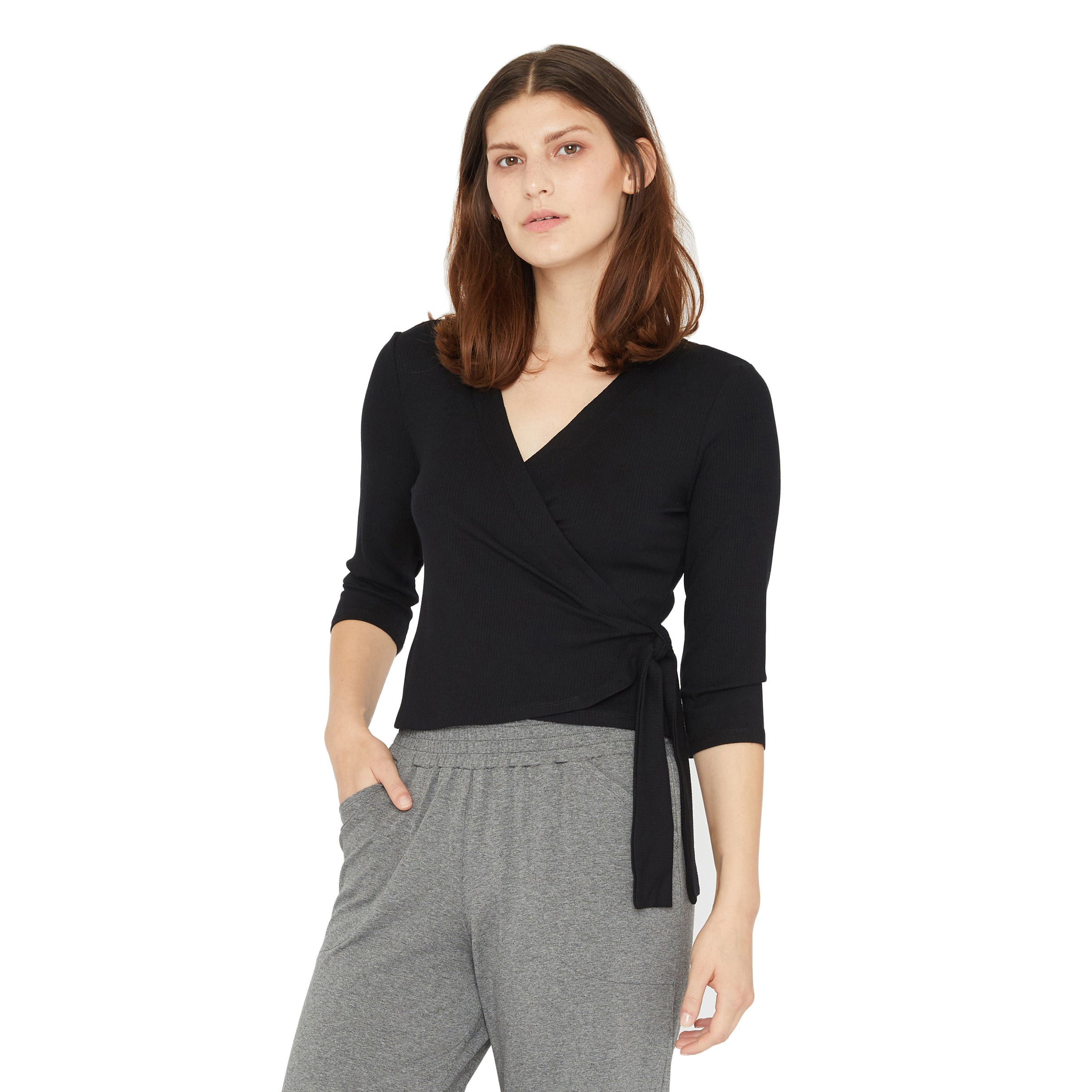 Leila Wrap Top - Sale