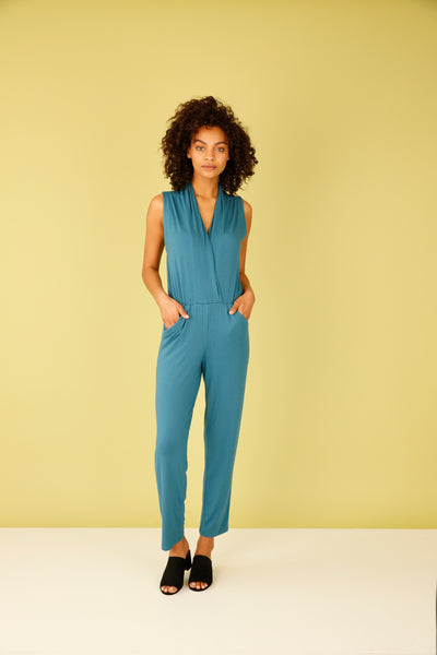 Easy Jersey Jumpsuit - Blue Steel