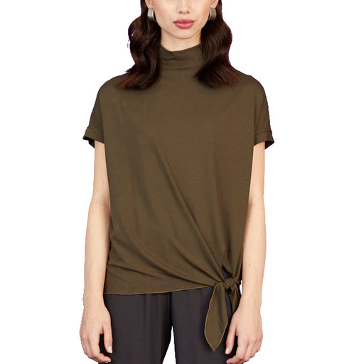 Tie Bottom Turtleneck Top - Sarah Liller San Francisco