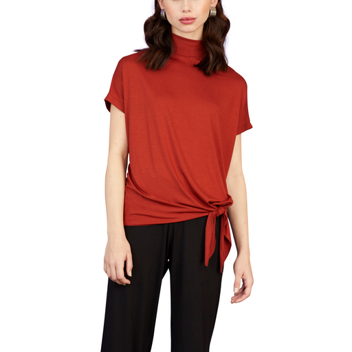 Tie Bottom Turtleneck Top - Sale - Sarah Liller San Francisco