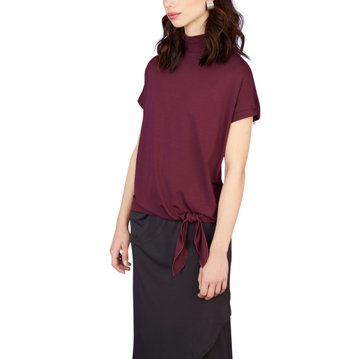 Tie Bottom Turtleneck Top - Sale