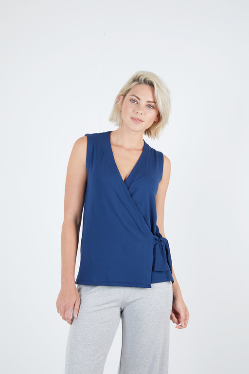 Sleeveless Wrap Top - Sale - Sarah Liller San Francisco