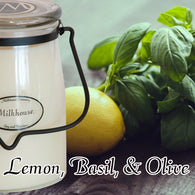 Lemon, Basil, & Olive 22oz Butter Jar Candle