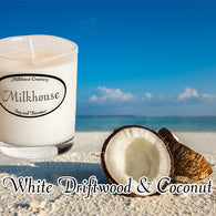 White Driftwood & Coconut Buttershot Candle