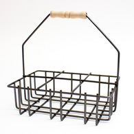 Six Cell Welded Metal Milkbottle Holder