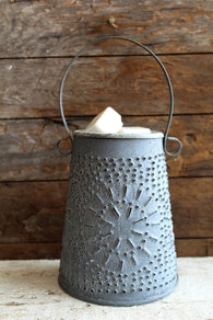 Galvanized Punched Tin Wax Melter