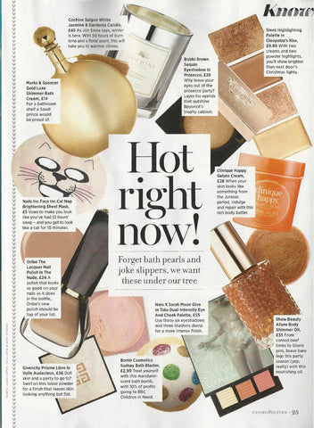 Cosmpolitan December 2016, Hot right now!