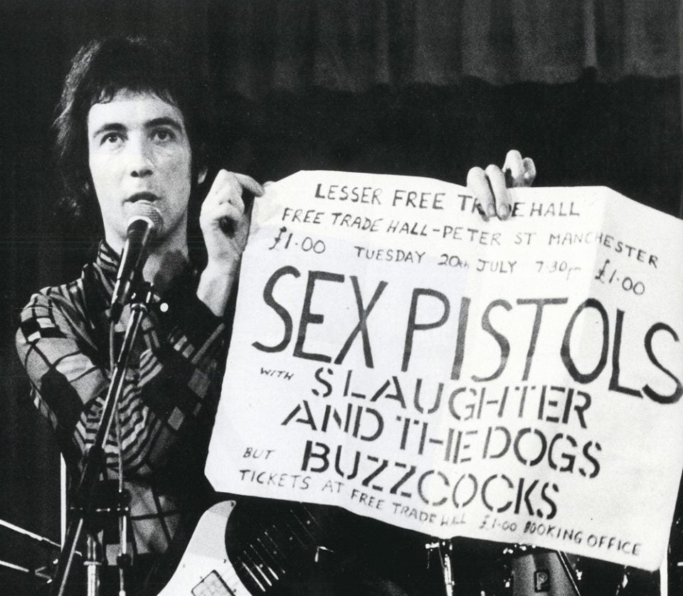 Pete Shelley at seminal Buzzcocks gig