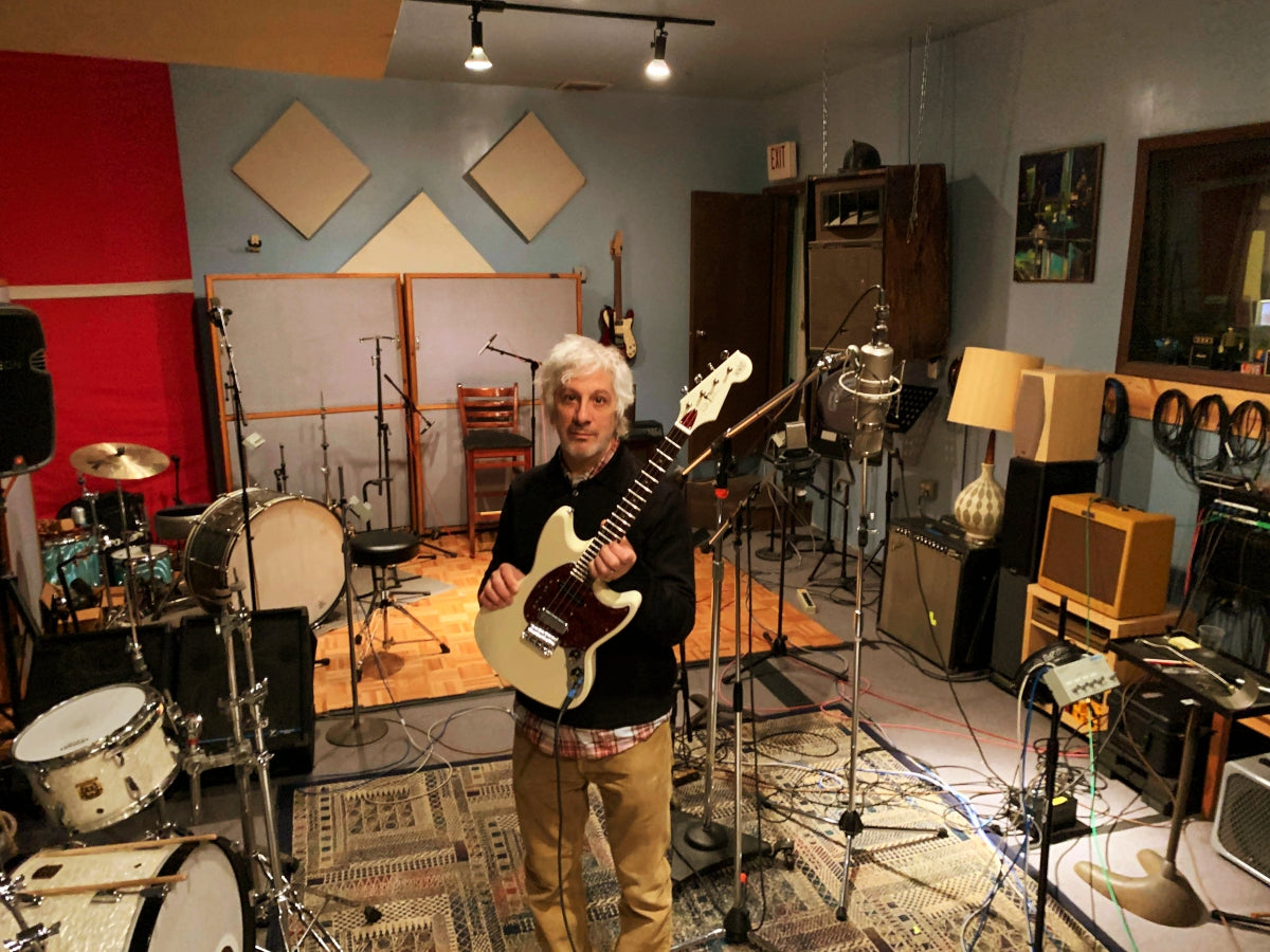 Lee Ranaldo in the studio