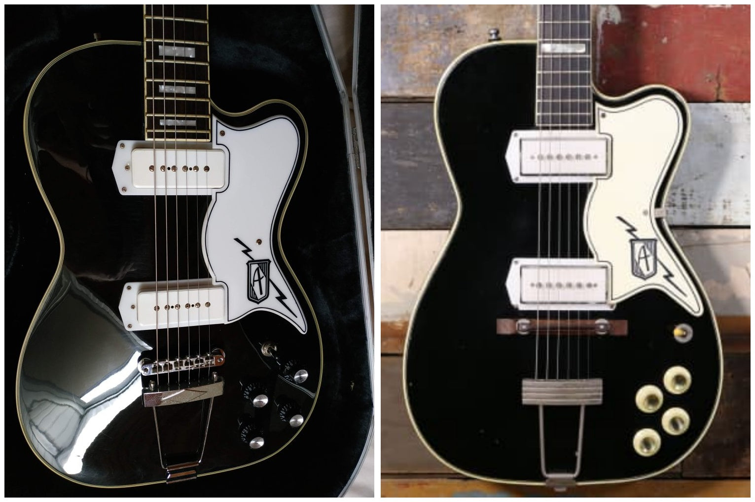 Airline Tuxedo and vintage Kay Barney Kessel
