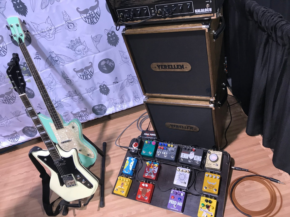 Fuzzrocious booth at NAMM 2018