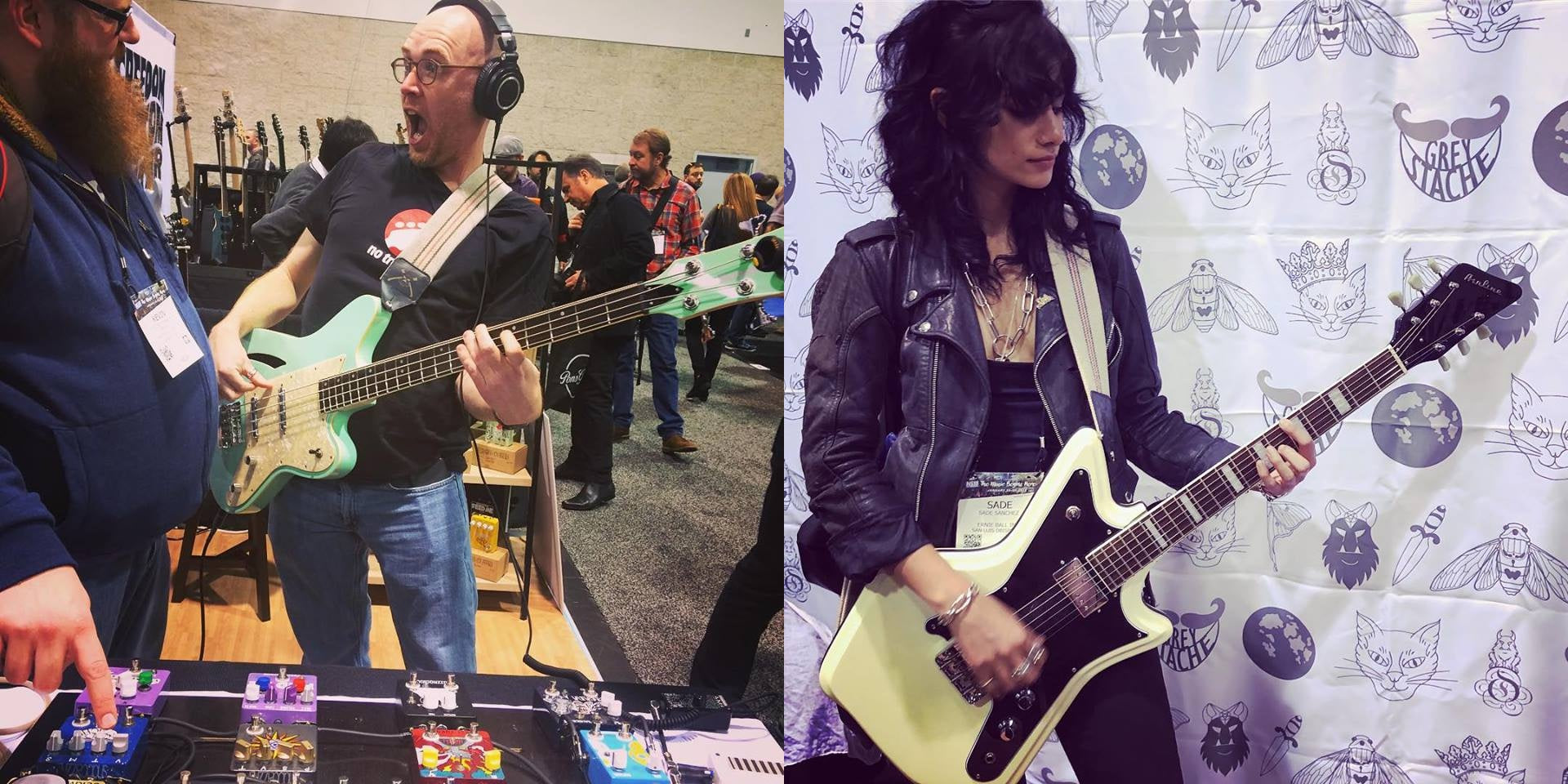 Eastwood guitars at the Fuzzrocious booth
