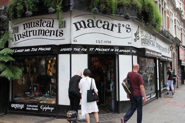 Macaris guitar shop in London