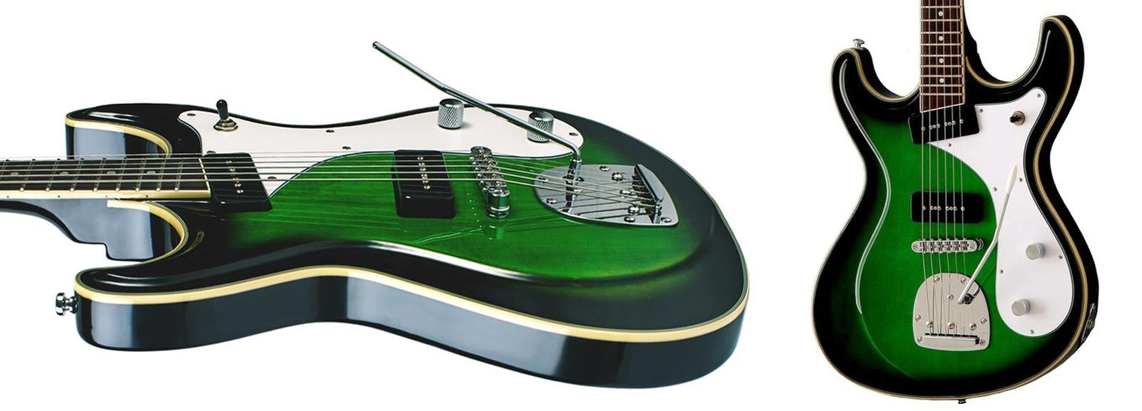 Sidejack Deluxe - Green Burst Finish