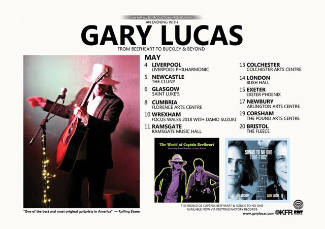 Gary Lucas tour dates