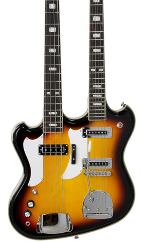 Eastwood Guitars Eastwood Doubleneck LH Sunburst Featured