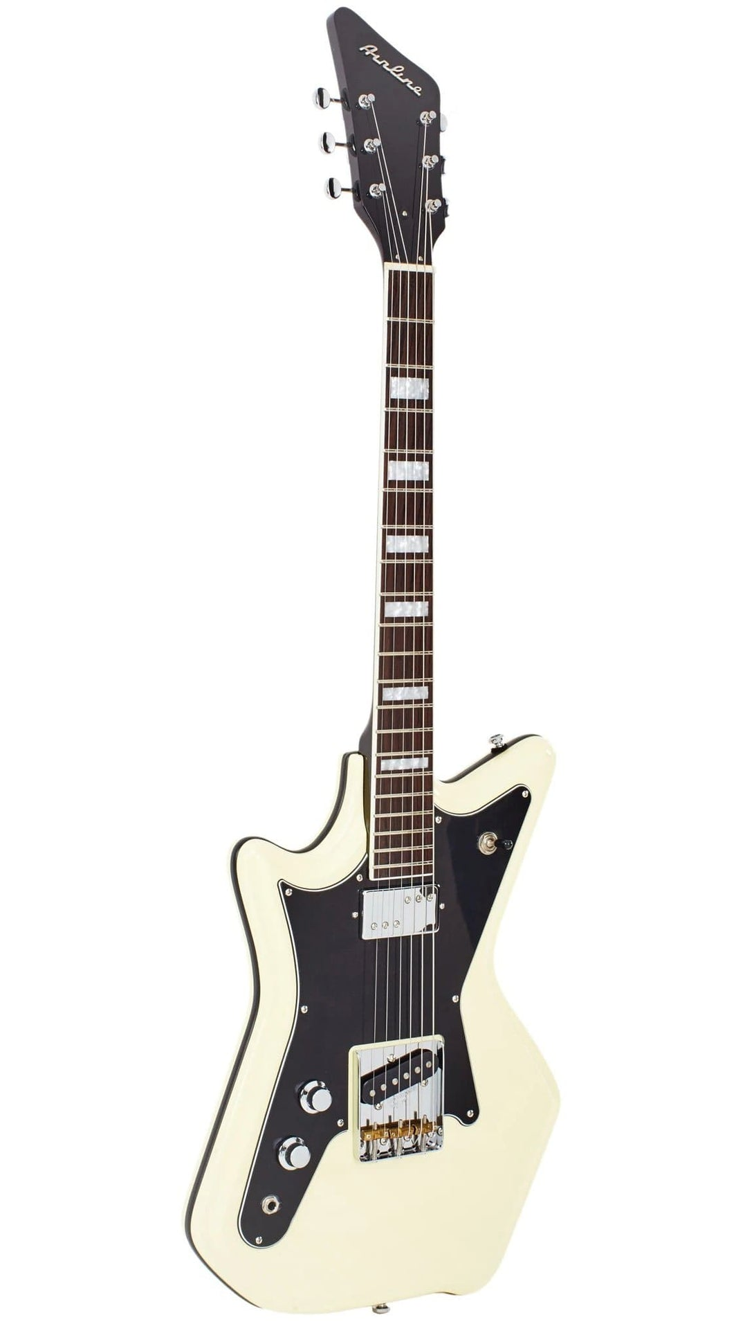 Eastwood Guitars Airline 59 2PT Vintage Cream LH Angled