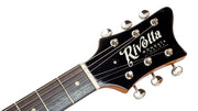 Eastwood Guitars Rivolta Mondata JR Moneta Copper Headstock