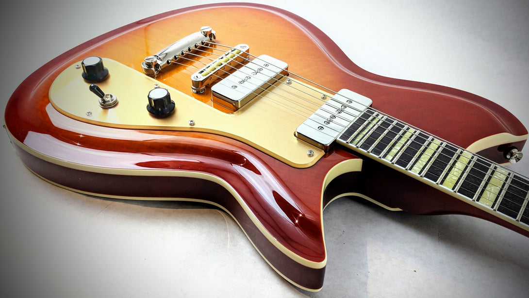 Eastwood Guitars Rivolta Combinata Stop Tail Autunno Burst Head Back