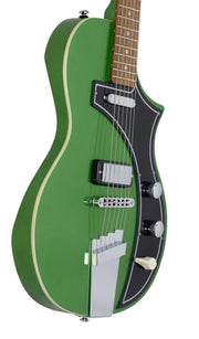 Eastwood Guitars The Continental by Jeff Senn Cadillac Green Player POV