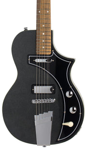 Eastwood Guitars The Continental by Jeff Senn Metallic Black Closeup