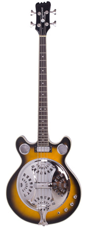 Eastwood Guitars Delta 4 Bass Sunburst Full Front