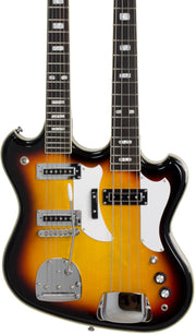 Eastwood Guitars Eastwood Doubleneck 4/6 Sunburst